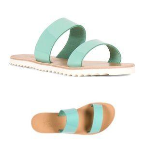 Joie Avalon Leather Slide Sandals Size 38/US 8
